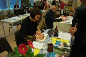 Kristin Anderson signing debut novel Green