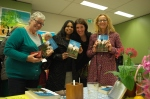Variety of friends purchasing my book!