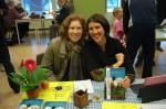 Author Kristin Anderson with reader Janita van Nes