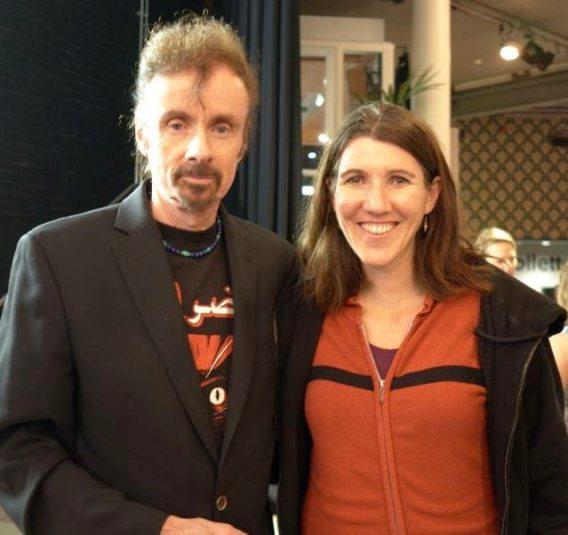 Author Kristin Anderson with Author TC Boyle. Photo courtesy Eleonore.